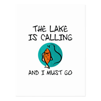 The Lake Is Calling Postcard
