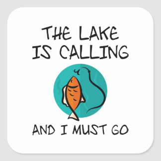 The Lake Is Calling Square Sticker