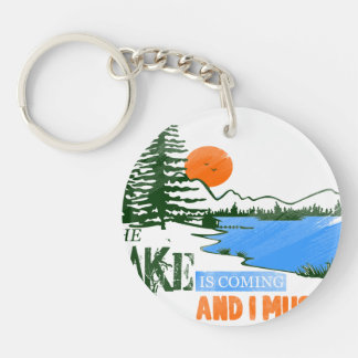 The Lake Is Coming And I Must Go Key Ring