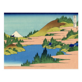 The lake of Hakone, Sagami Province (by Hokusai) Postcard