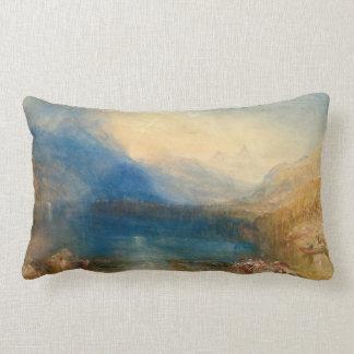 The Lake of Zug Joseph Mallord William Turner Lumbar Cushion