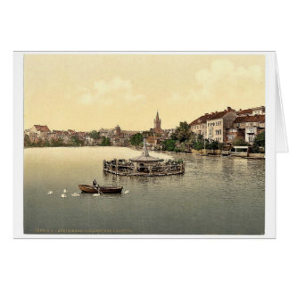 The lake, south side, Konigsberg, East Prussia, Ge Card