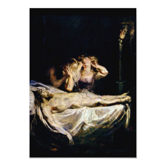 The Lamentation of Jesus Christ - Rubens 13 Cm X 18 Cm Invitation Card