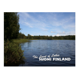 The Land of Lakes: Suomi Finland Postcard