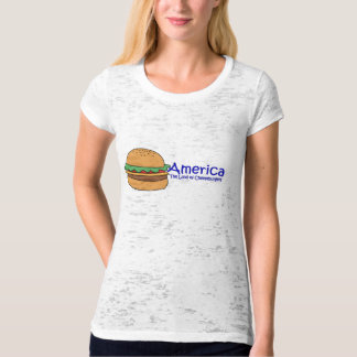 The Land of the Cheeseburgers T Shirts