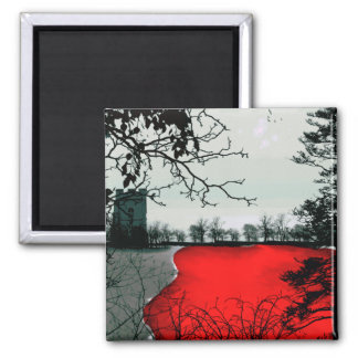 The Land Remembers Gothic landscape fantasy Square Magnet
