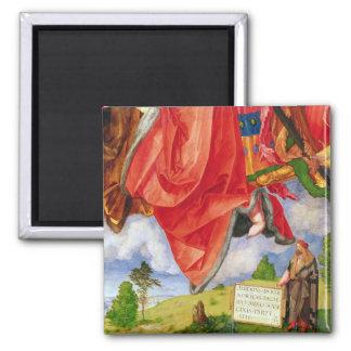 The Landauer Altarpiece, All Saints Day Square Magnet