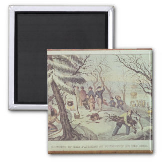 The Landing of the Pilgrims at Plymouth Magnet