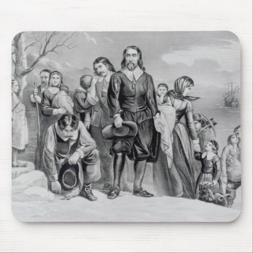 The Landing of the Pilgrims Mousepads