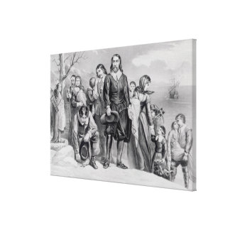 The Landing of the Pilgrims Stretched Canvas Prints