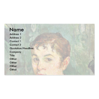 The Landlord'S Daughter By Gauguin Paul Pack Of Standard Business Cards