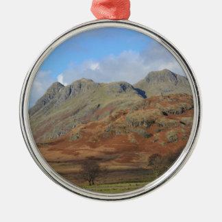 The Langdale Pikes, English Lake District Metal Ornament