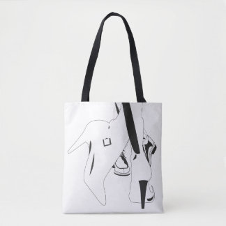 The language of the feet tote bag