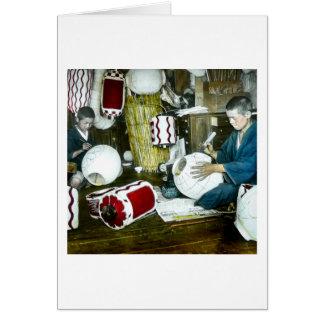 The Lantern Painter Craftsman Vintage Japan No 2 Card