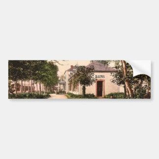 The Lardy buildings, Vichy, France vintage Photoch Bumper Stickers