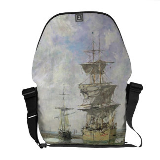 The Large Ship, 1879 (oil on canvas) Messenger Bag
