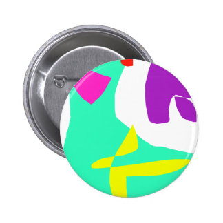 The Last and the First Message in Paints 6 Cm Round Badge