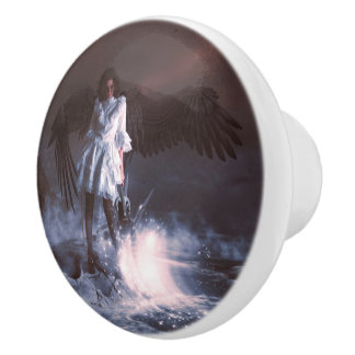 The Last Angel Ceramic Knob