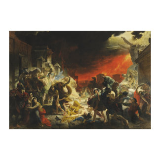 The Last Day of Pompeii by Karl Briullov Vesuvius Canvas Print