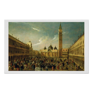 The Last Day of the Carnival, St. Mark's Square, V Poster