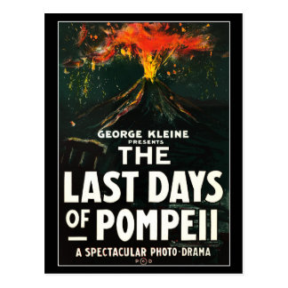 """The Last Days of Pompeii"" Motion Picture Poster Postcard"