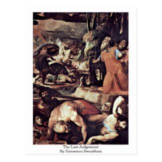 The Last Judgement By Domenico Beccafumi Postcard