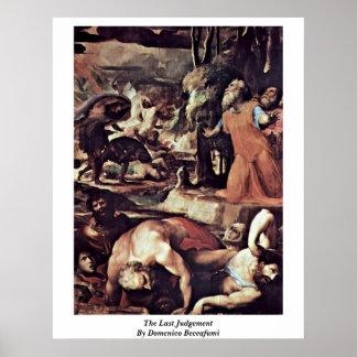 The Last Judgement By Domenico Beccafumi Poster