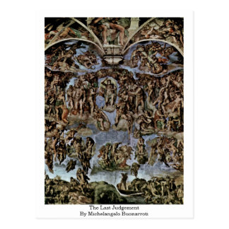 The Last Judgement By Michelangelo Buonarroti Postcard