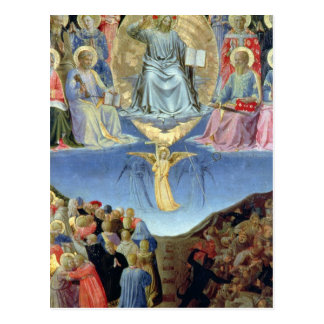 The Last Judgement, central panel from a Triptych Postcard