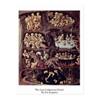 The Last Judgement Detail By Fra Angelico Postcard