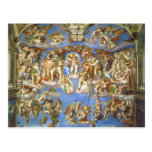 The Last Judgment Fresco Michelangelo Buonarroti Post Cards