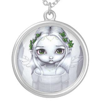 The Last Leaves NECKLACE gothic angel fairy