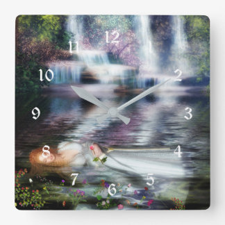 The Last Repose of Ophelia Square Wall Clock