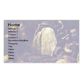 The Last Rites By Crespi Giuseppe Maria Business Card