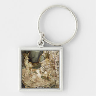 The last shape Silver-Colored square key ring