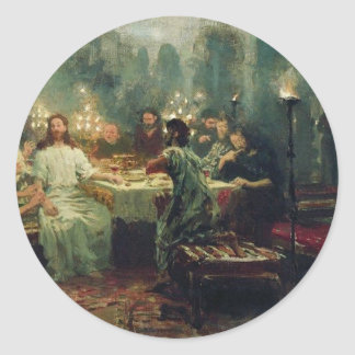 The Last Supper by Ilya Repin Classic Round Sticker