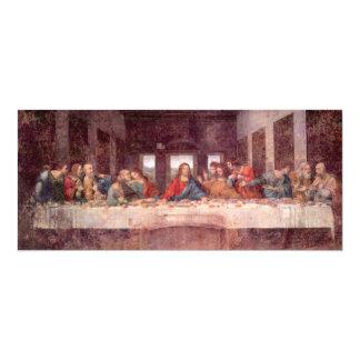 The Last Supper by Leonardo da Vinci, Renaissance 4x9.25 Paper Invitation Card