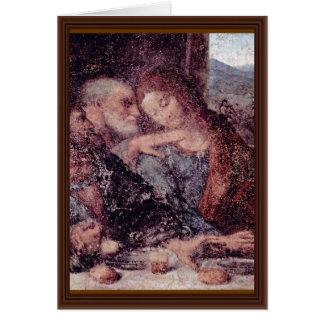The Last Supper Detail By Leonardo Da Vinci Card