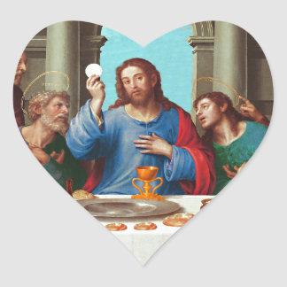 The last supper heart sticker