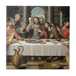 The Last Supper Juan de Juanes Small Square Tile