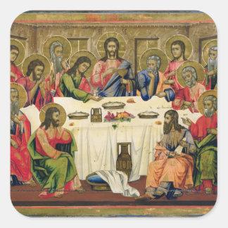 The Last Supper Square Sticker