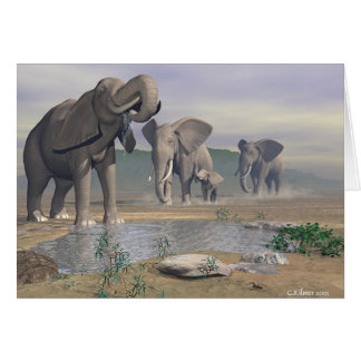 The Last Watering Hole Greeting Card