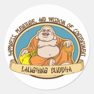 The Laughing Buddha Classic Round Sticker