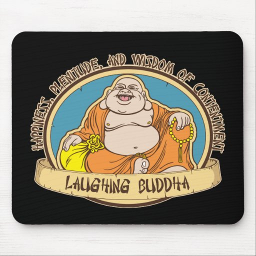 The Laughing Buddha Mouse Pad