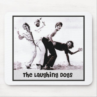 The Laughing Dogs Retro Photo Mousepad