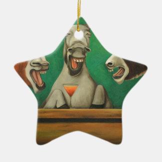 The Laughing Donkeys Ceramic Star Decoration