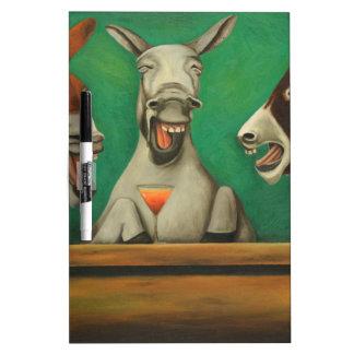 The Laughing Donkeys Dry-Erase Whiteboard