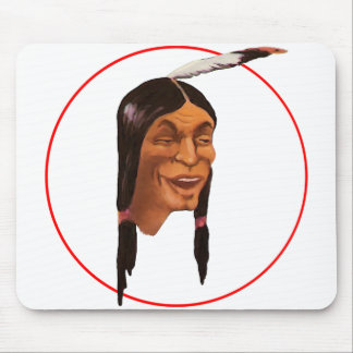 The Laughing Indian Mouse Pad