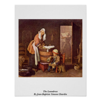 The Laundress By Jean-Baptiste Simeon Chardin Poster