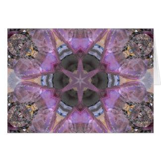 The Lavender Crystal Star Mandala Card